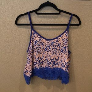 Tops - [NEW] Crop Top with Lace Hem & Back Details